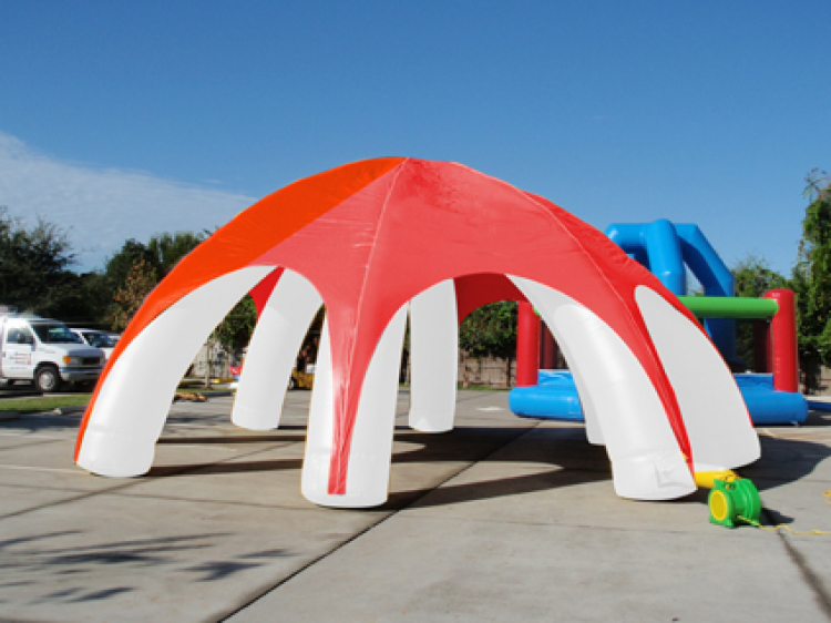 Inflatable Tent (Red and White)